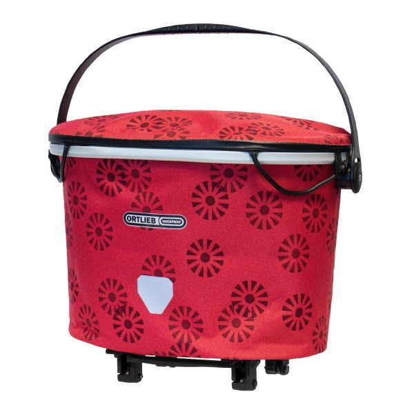 Ortlieb Up-Town Rack Design foral red